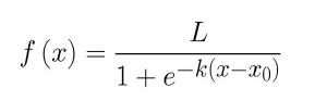 Equation courbe logistique