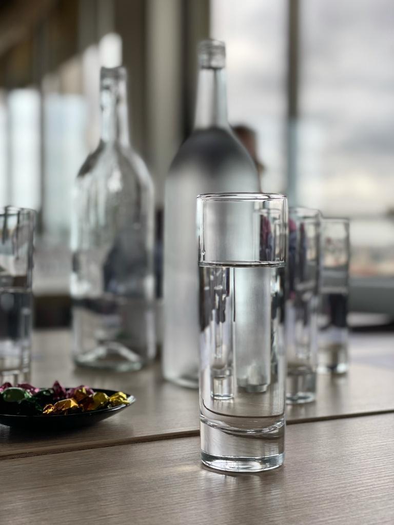 bouteilles et verres